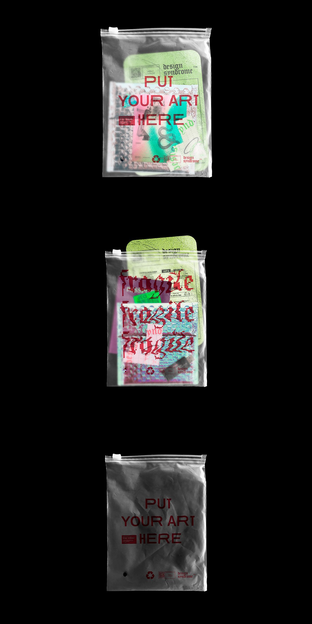 Download Translucent Plastic Bag Mockup Graphic Design Fun Zine Design Texture Graphic Design