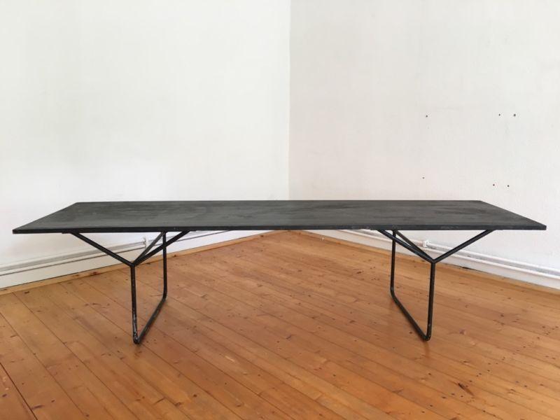 Industrie Design Von Broste Copenhagen Tisch Schwarz 200 Cm X 60