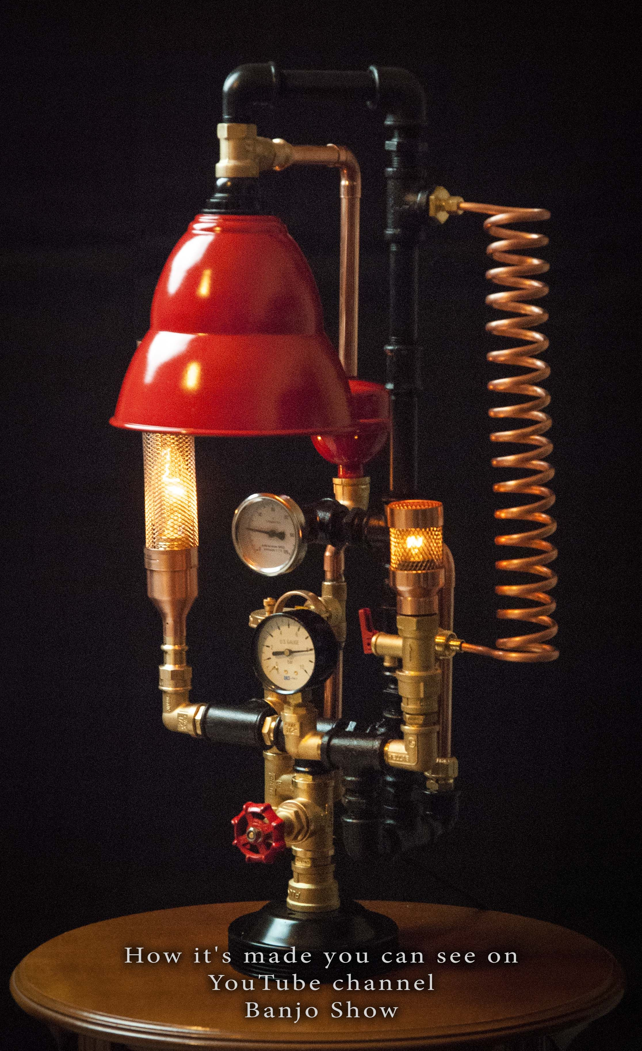 Pin by Banjo Show on Steampunk DIY Industrial Pipe Lamp #6 ...