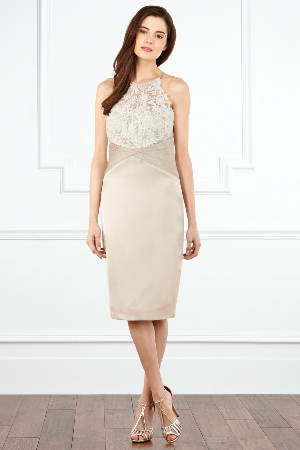 Click to buy ucuc stain silk lacestrapless sleeveless tealength criss