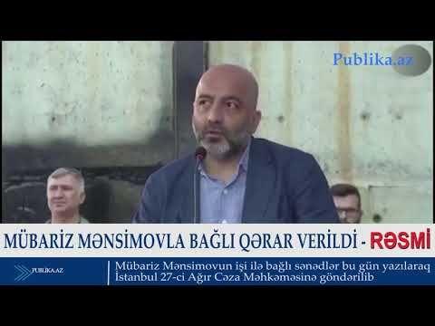 Mubariz Mənsimovla Bagli Qərar Verildi Rəsmi Video Dunyaxəbər Informasiya Portali Youtube Playlist Videos