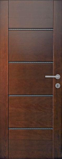 Porte Intérieure Contemporaine Hêtre Teinté
