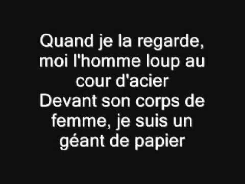 Le Géant de Papier Jean Jacques Lafon Paroles - YouTube | Chansons françaises, Homme loup