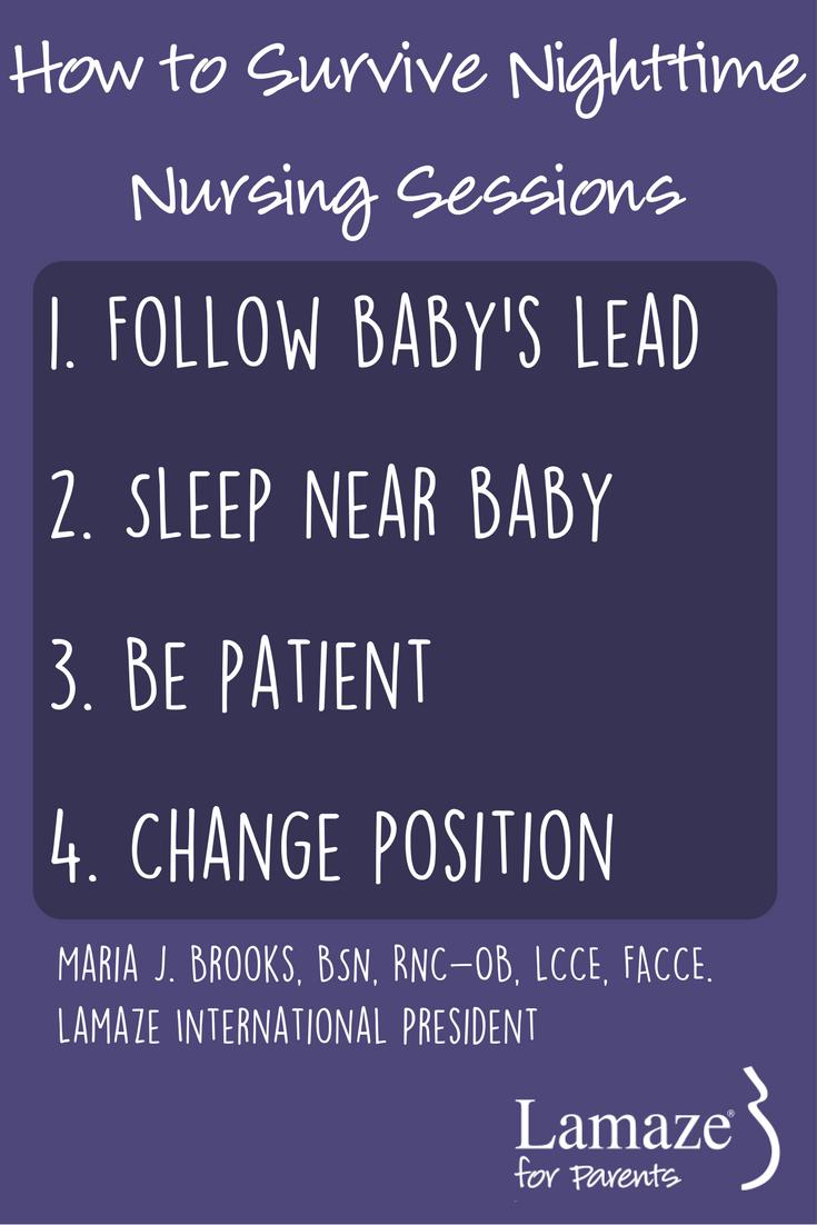 Lamaze International President Maria J. Brooks shares her tips to make nighttime nursing a little easier