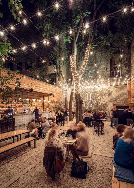 Wow Amazing Outdoor Lighting Ideas That Bring Magic Into The Backyard 1592435170 Outd Outdoor Restaurant Patio Coffee Shop Interior Design Beer Garden Design