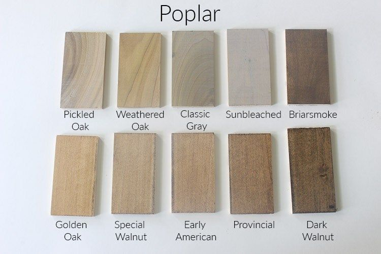 How 10 Different Stains Look On Different Pieces Of Wood