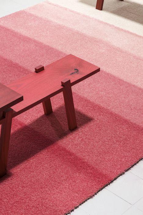 Re Vive Carpets By Rens Desso Love The Bench Design With Images Milan Design Week 2014 Milan Design Week Carpet Design