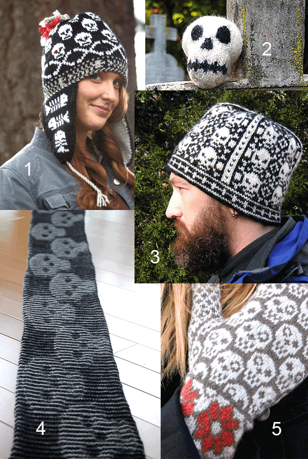 Skull Knitting Patterns | Stricken | Pinterest | Stricken, Häkeln ...