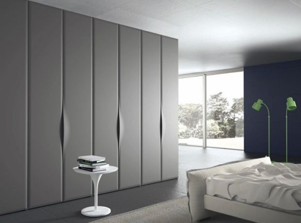 designer schrank-griffe grau-farben elegant-modernes schlafzimmer - modernes schlafzimmer grau
