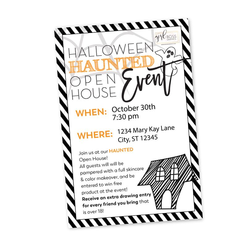 Use this Halloween Haunted House Open House Party