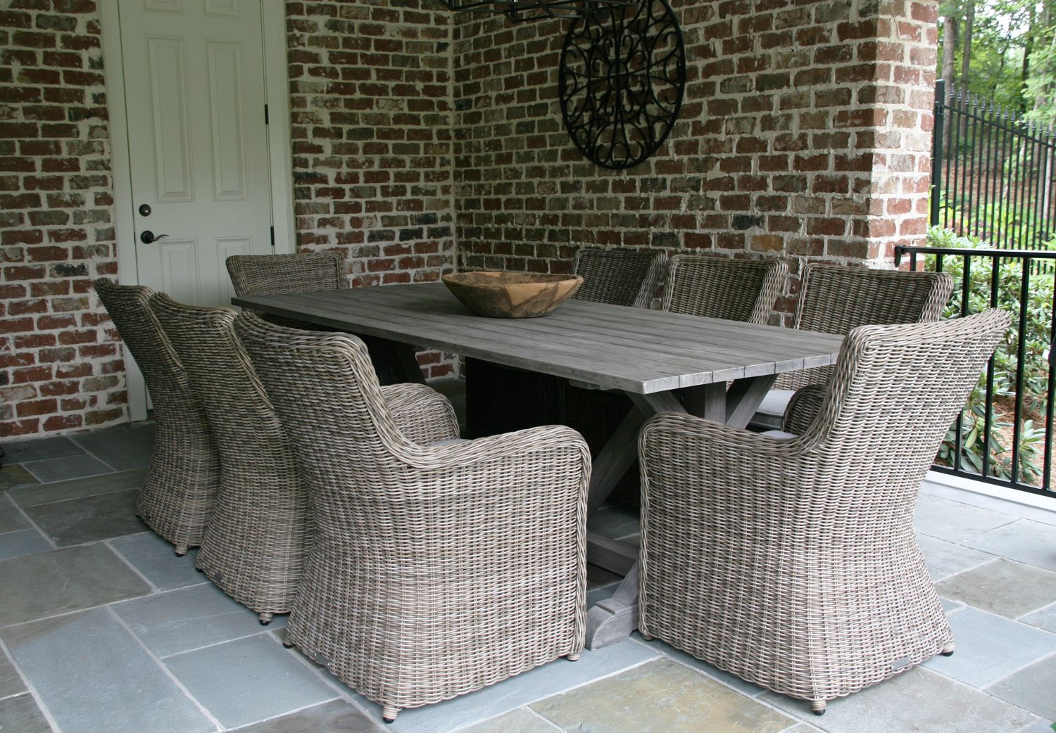 Kingsley Bate Sag Harbor Dining Chairs And Brussels Dining Table Create A  Dining Area Fit