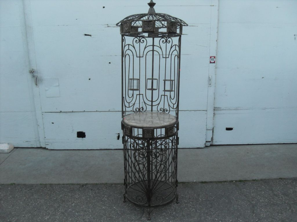 Wrought Iron Bird Cage Look Wine Rack