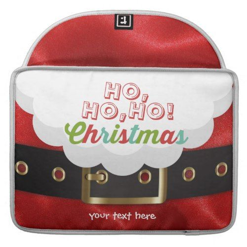 santa claus suit ho ho ho christmas happy new year sleeve for macbook pro