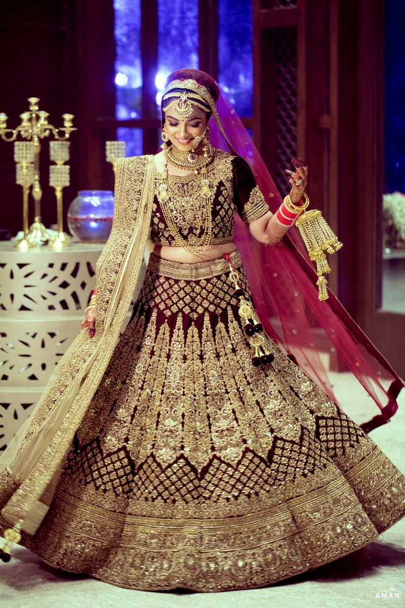 Twirling Bride Shot Indian Bridal Outfits Indian Bridal Fashion
