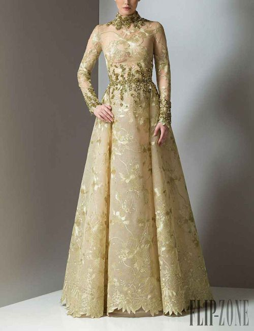 Golden Myrish lace gown Margaery would wear, Antonios Couture