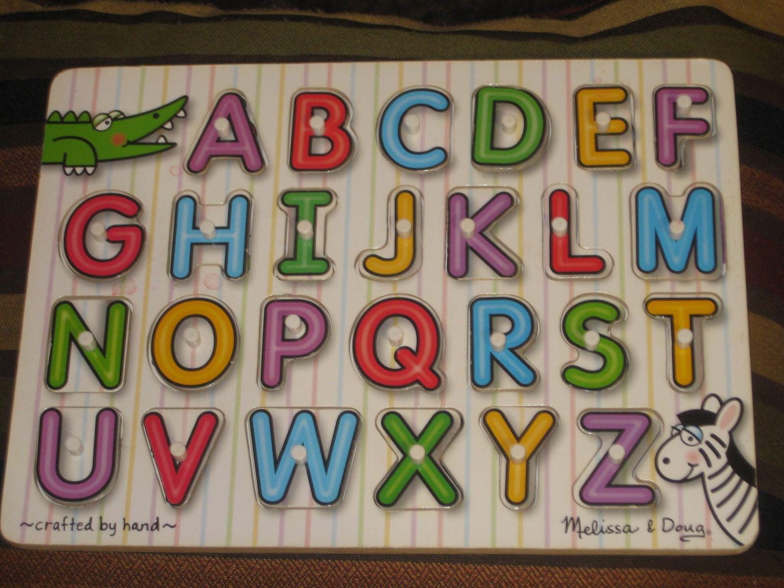 Melissa and Dough Wooden Puzzle Pieces Educational Alphabet Games
