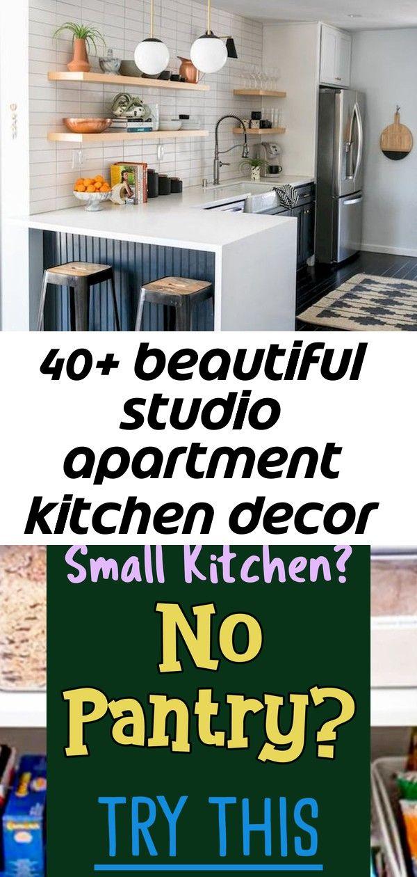 40+ beautiful studio apartment kitchen decor ideas and ...