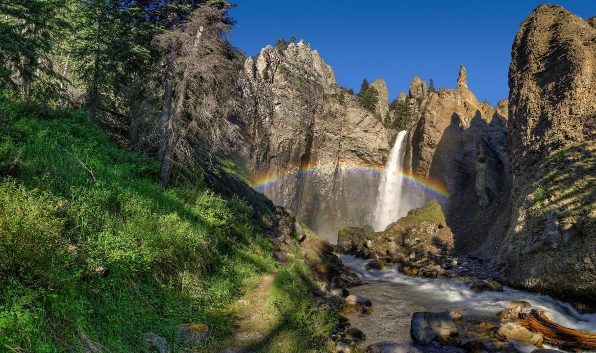 grand canyon of yellowstone | tower falls, yellowstone