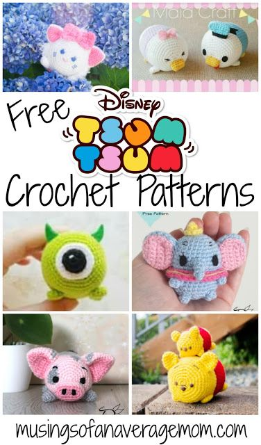 Free Disney Tsum Tsum Crochet Patterns #knittingideas