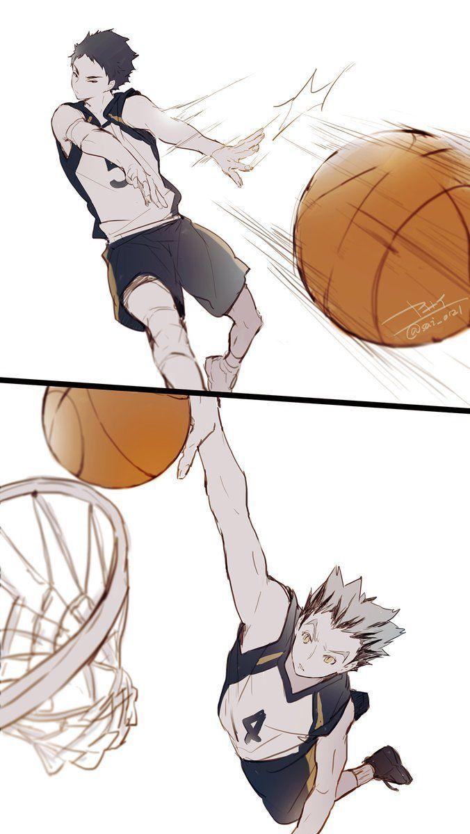 Bokuaka As Basketball Players Haikyuu Anime Haikyuu Manga Bokuto Koutaro