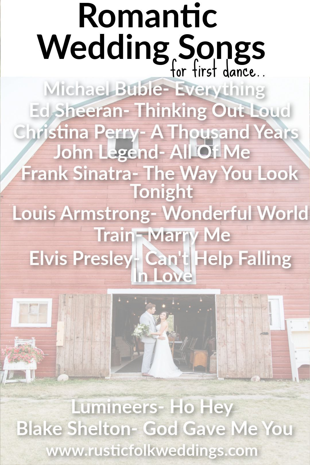 10 Romantic First Dance Songs That'll Never Go Out Of