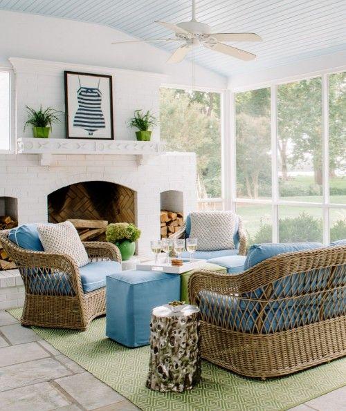 Coastal Sun Room Ideas with Wicker/Rattan   Rattan ...