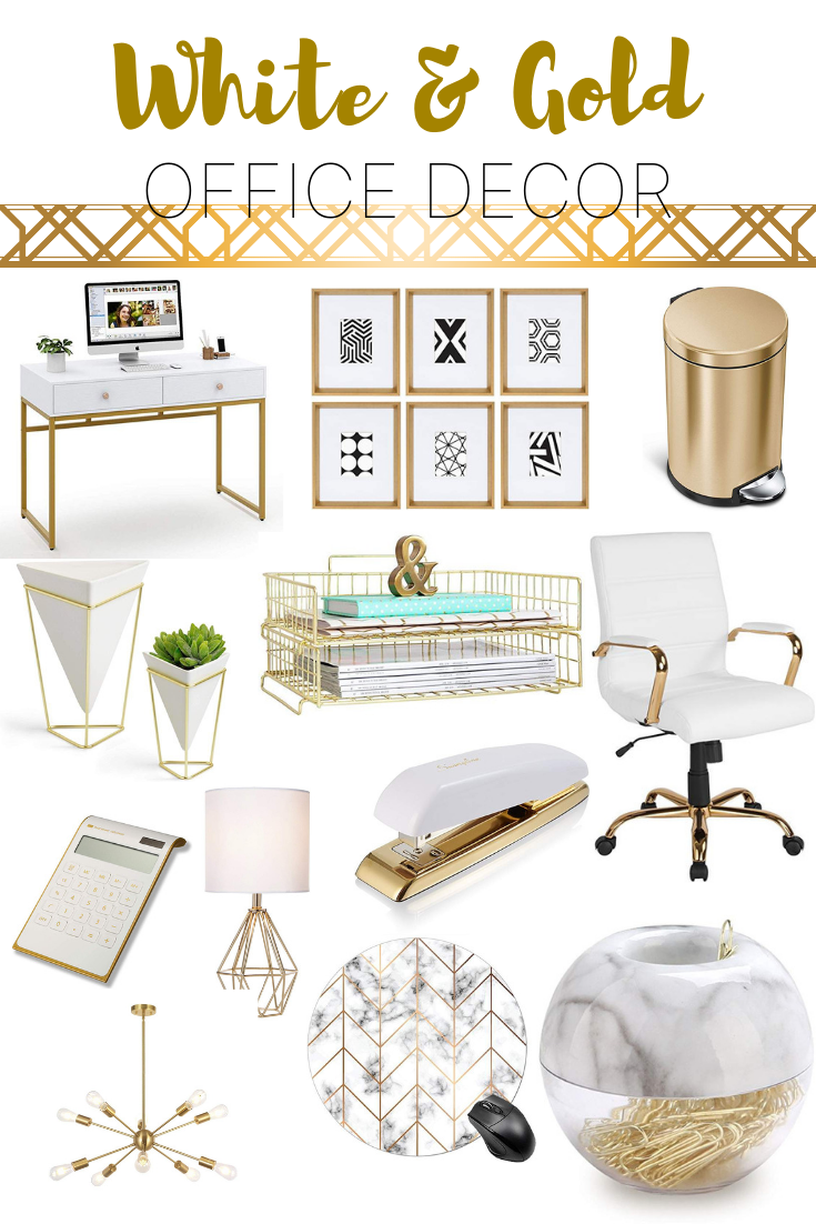 Gold Desk Accessories And Office Decor Gold Desk Accessories Gold Office Supplies Work Desk Decor