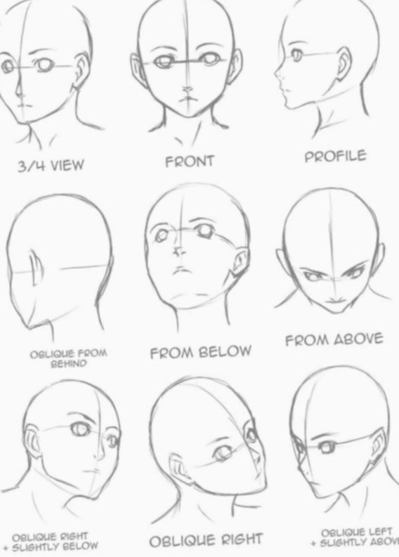 7 Anime Face Art Reference Art Drawings Sketches Drawing Tutorial Drawing Heads