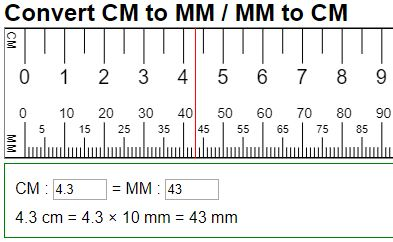 A Metric Length Converter That Can Help Us To Easily Convert Millimeters Mm To Centimeters Cm Or Cen Centimeter Ruler Conversion Chart Math Length Converter