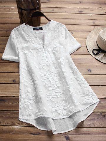c6973a88469f Blusa vintage bordada irregular en blanco | rosalinda.cuadra@hotmail ...