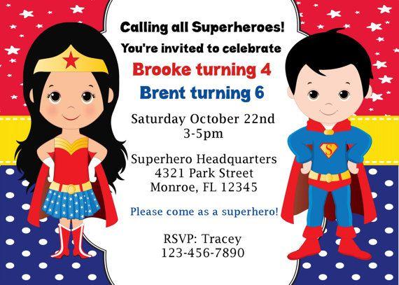 Diy Superhéroe Wonderwoman Y Superman Fiesta