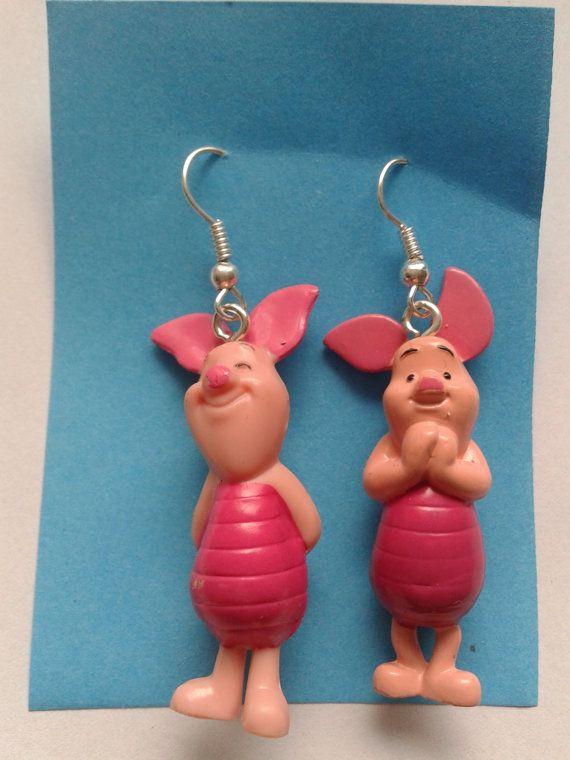 43a561edd7da5 Winnie the Pooh Piglet dangle earrings   Earrings   Winnie the pooh ...