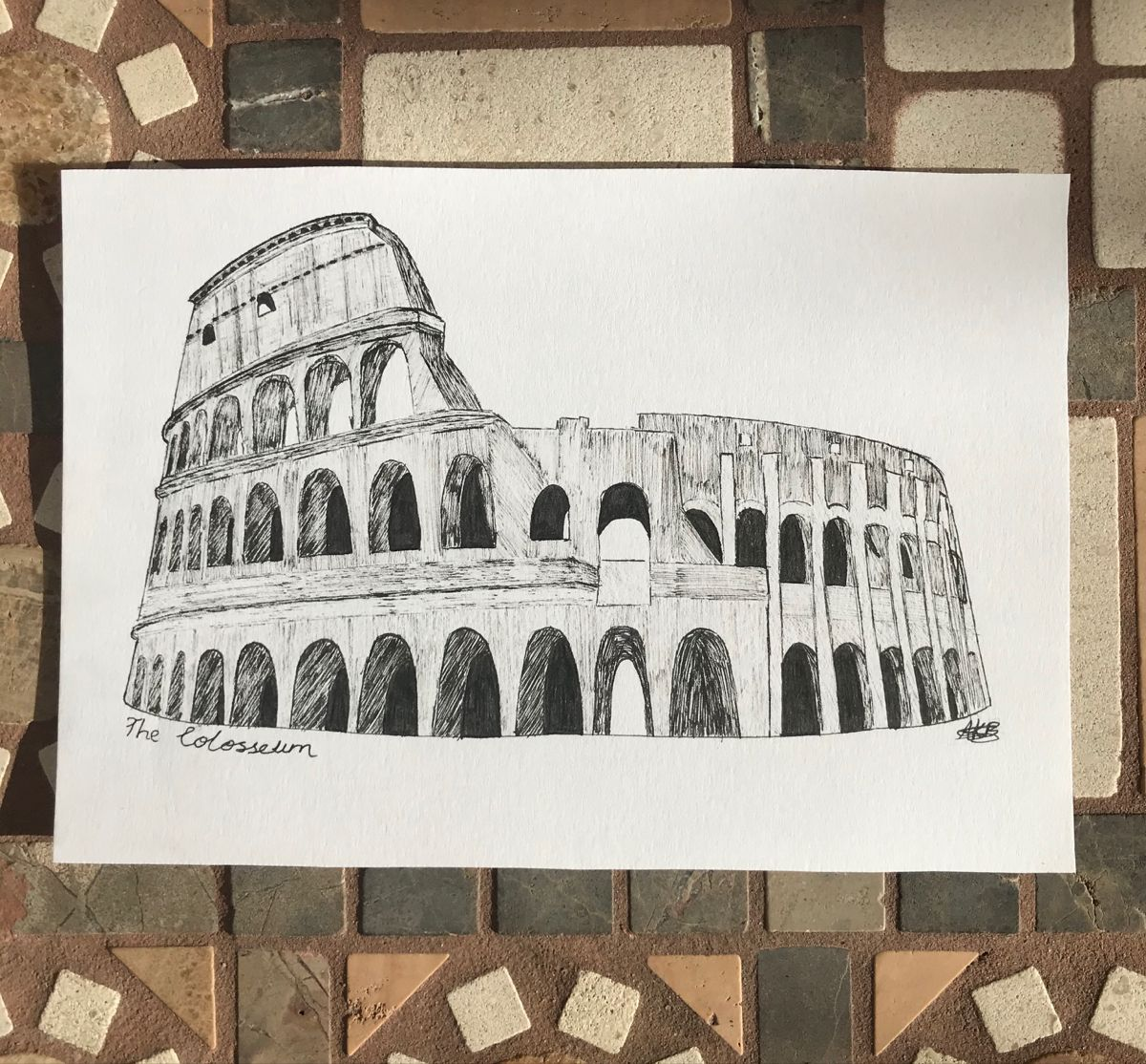 A pen drawing of the Colosseum, Rome. Available for physical and digital purchase through the link below. #pendrawing #archisketch #sketch #drawing #etsyshop #etsyseller #colosseum #colosseumdrawing