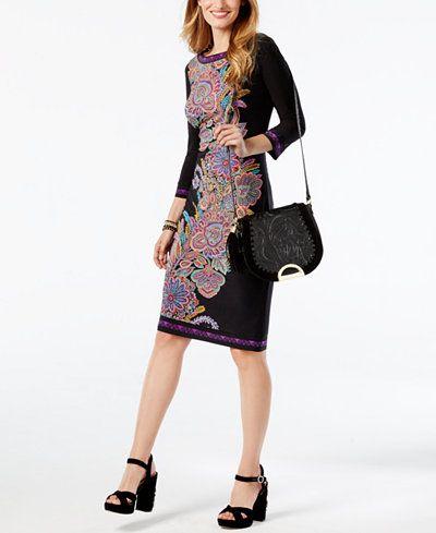 b886909844f INC International Concepts Printed Sheath Dress