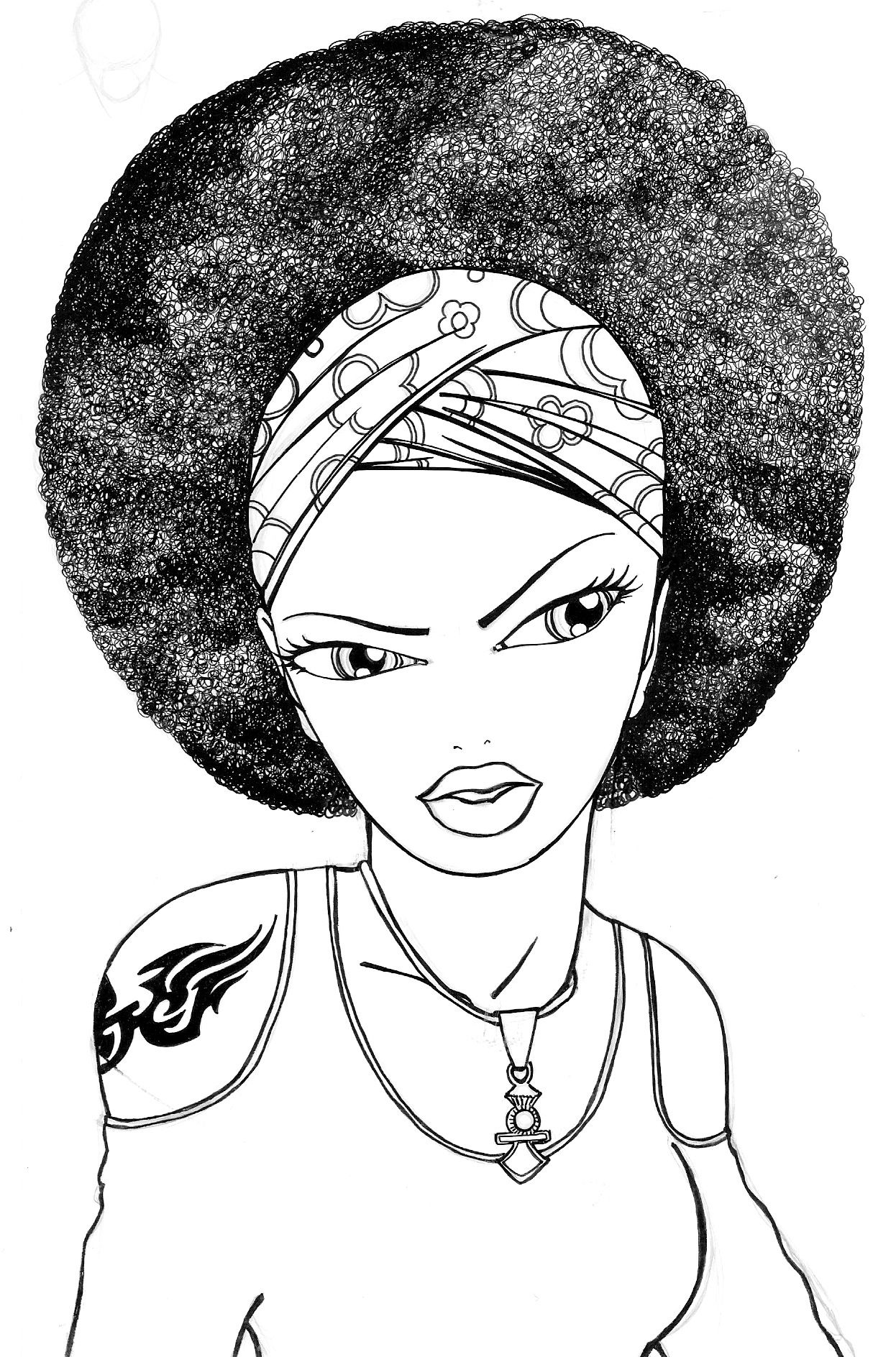 Black Queens Coloring Book I like to name my drawings This one Eleanore wears a