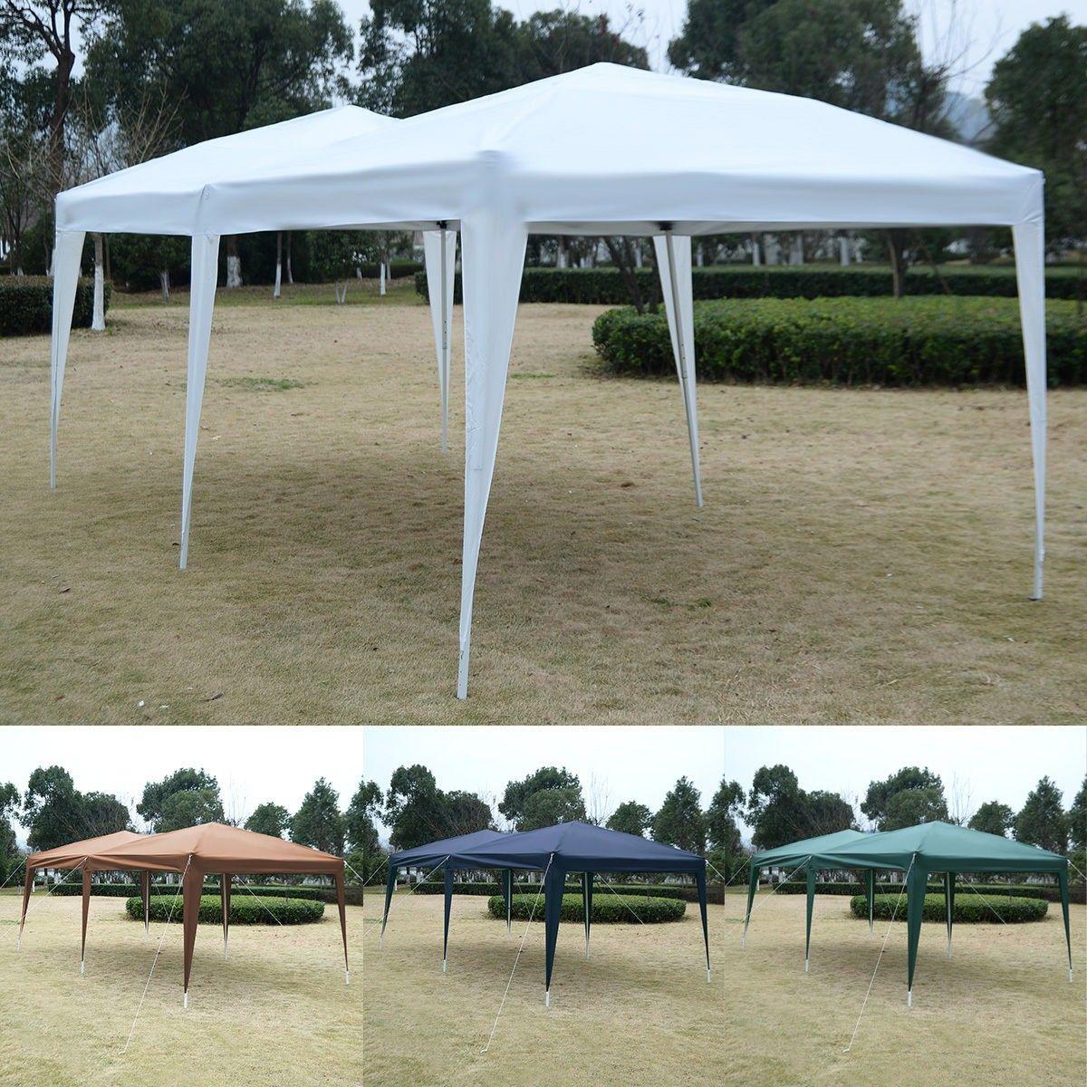 10 X 20 Ez Pop Up Folding Wedding Party Tent Cross Bar Party Tent Gazebo Hot Tub Garden