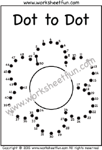 Dot to Dot – Flower – Numbers 1-50