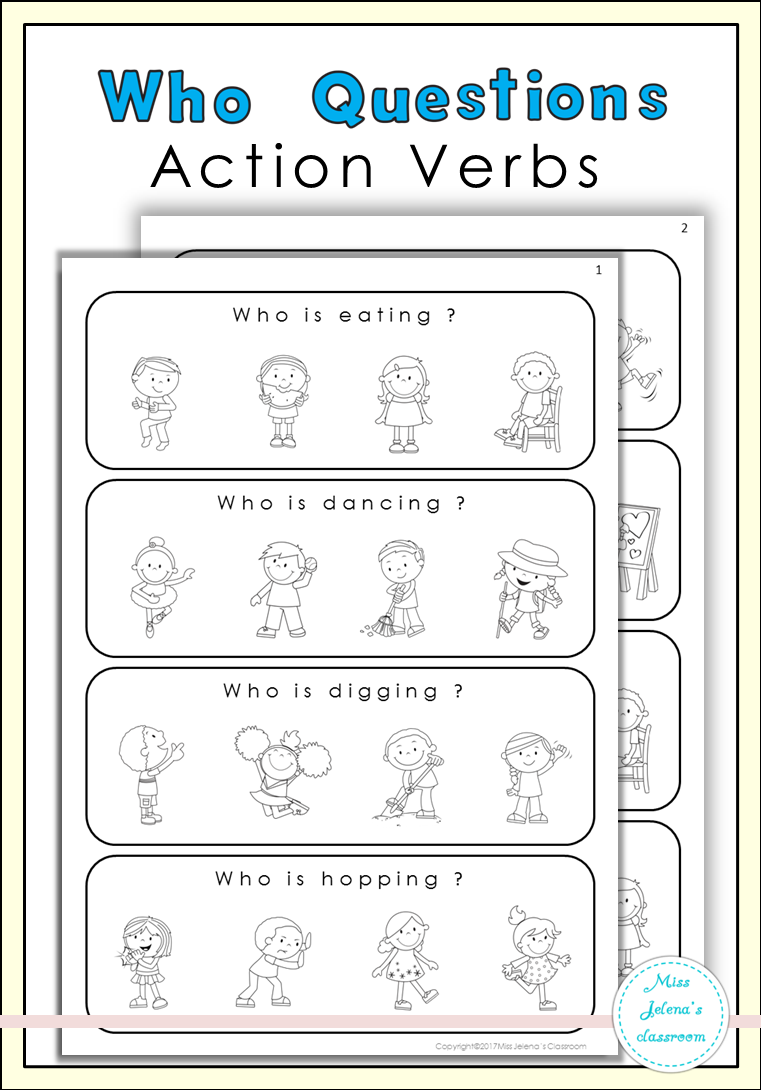 Who Questions Action Verbs Special Education Action Verbs Special Education Education [ 1090 x 761 Pixel ]