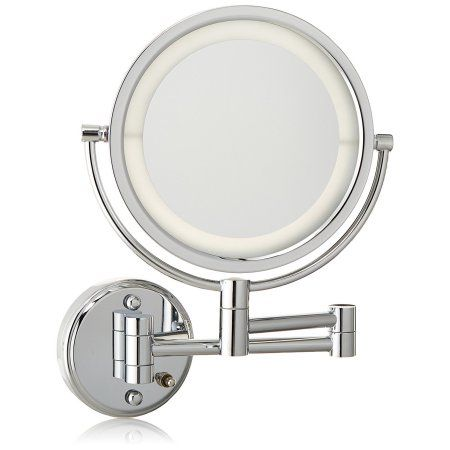 Jerdon Hl88cld 8 5 Inch Led Lighted Direct Wire Wall Mount Makeup Mirror With 8x Magnification
