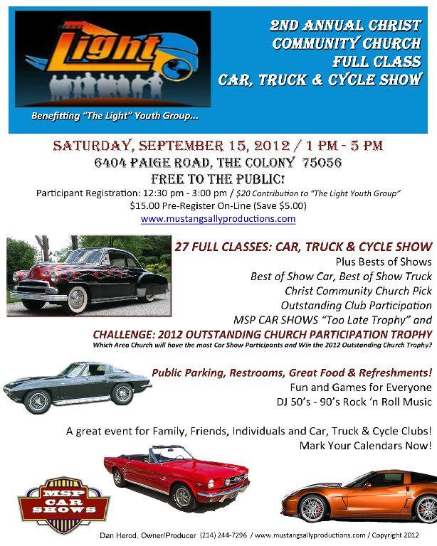 Full Class Car Truck Cycle Show Cycle Car Show Trucks