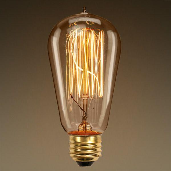 Edison Bulb Squirrel Cage Filament 60 Watt Image Possible Bulb
