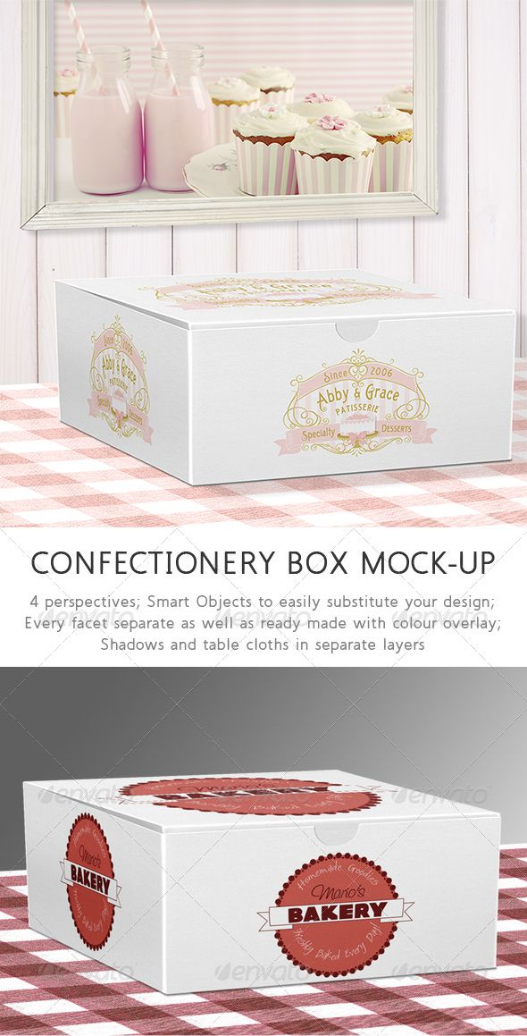 Download Mock Up Cake - Confectionary box by joiaco on GraphicRiver ...
