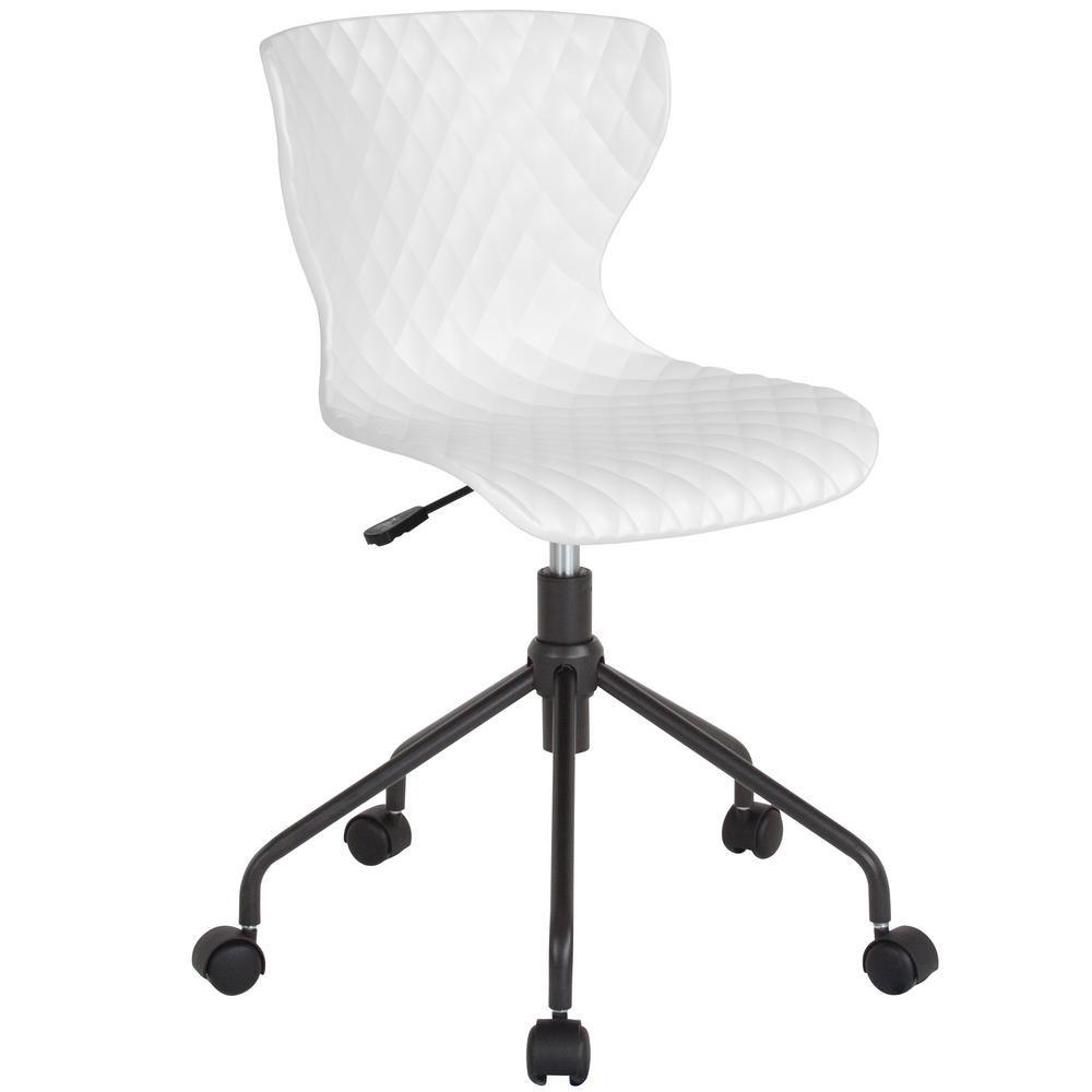 Carnegy avenue white plastic officedesk chair white