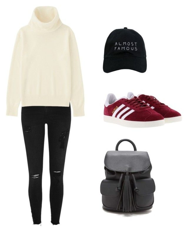 """cool sweater cap day"" by marib28 ❤ liked on Polyvore featuring Nasaseasons, River Island, Uniqlo, adidas and Forever 21"