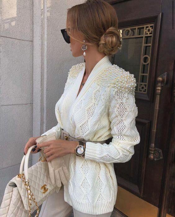 Photo of Белый трикотаж- роскошные модели, которые сделают образ женственным