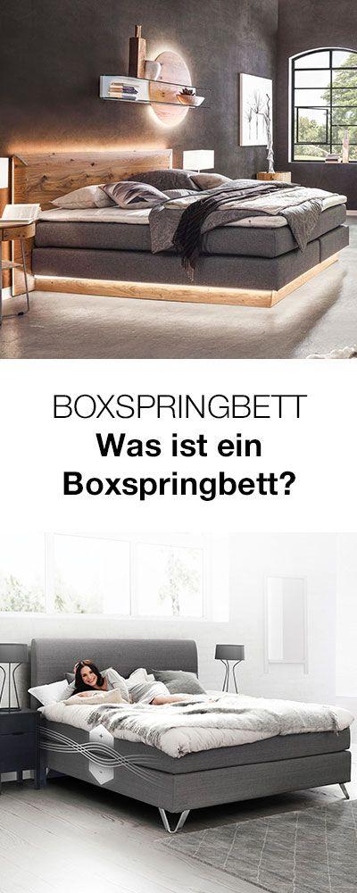 Ein Boxspringbett Zeichnet Sich Durch Seinen Dreischichtigen Aufbau Aus Federbox Matratze Und Topper Was Es Schlafzimmer Einrichten Boxspringbett Bettfedern