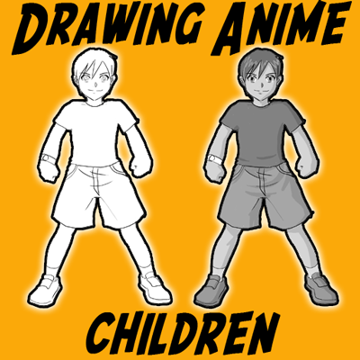 How to Draw Anime & Manga Kids Step by Step Drawing Lesson ...