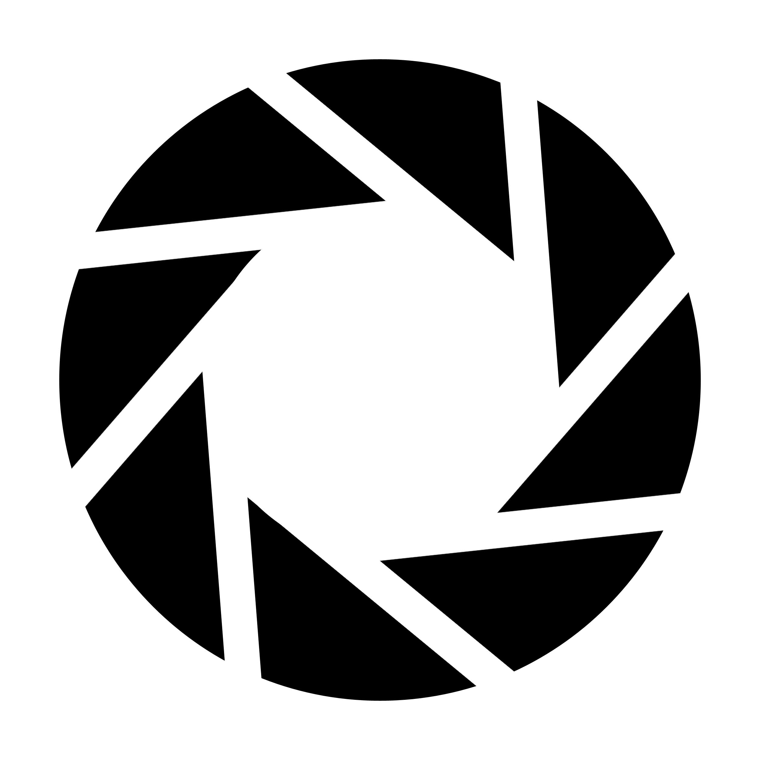 Aperture Stencil Template Aperture Logo Aperture Science Photography Logo Design