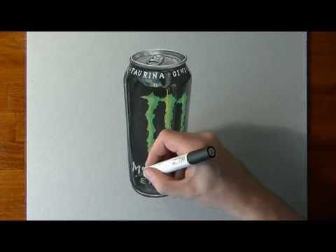 Drawing a monster energy drink can timelapse hd video monster drawing a monster energy drink can timelapse hd video voltagebd Images