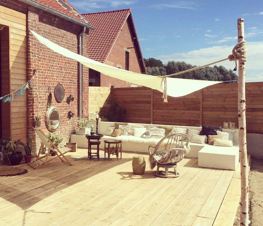 Terrasse Jardin \ terrasse Pinterest - toile a tendre pour terrasse